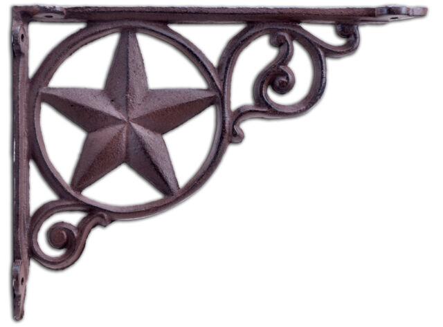 LARGE VICTORIAN VINE SHELF BRACKET BRACE Rustic Antique Brown Cast Iron Corbel Hooks, Brackets & Curtain Rods Architectural & Garden