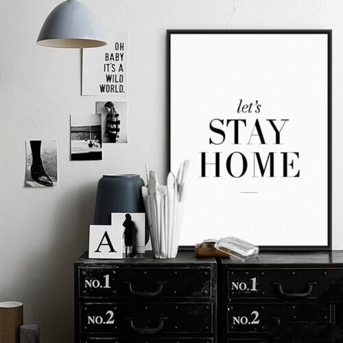 100/% quality Canvas make your house more beautiful! let/'s stay home quotes