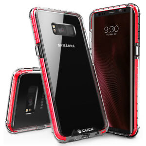 designer fashion 53737 5c6af Details about Galaxy S8 / S8 Plus Case, CLICK CASE Surge Series - Thin Dual  Layered Cover