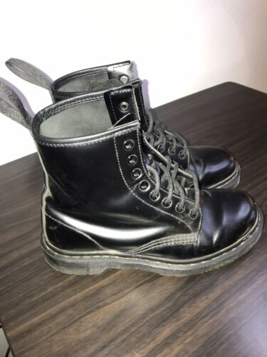Original Dr. Martens All Black Leather Boots Size