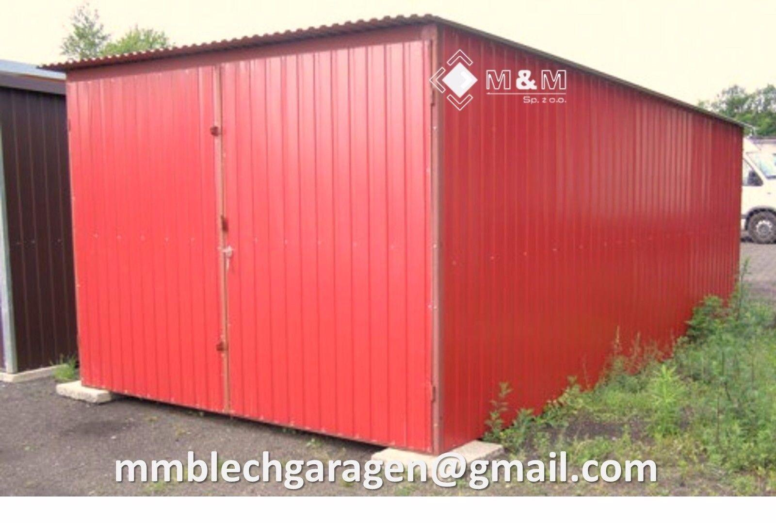 Lagerhalle 2,5x6m in Farbe ROT Blechgarage Garage Fertiggarage Metallgarage