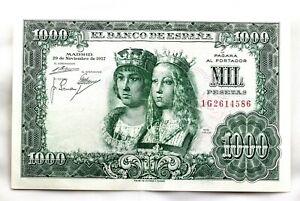 Spain-Estado-Espanol-Billete-1000-Pesetas-1957-Madrid-SC-UNC