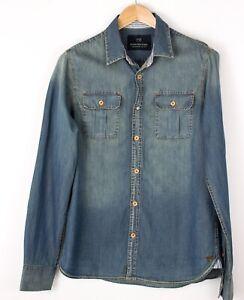 Scotch & Soda Hommes Standard Décontracté Jeans Chemise Taille M BAZ845