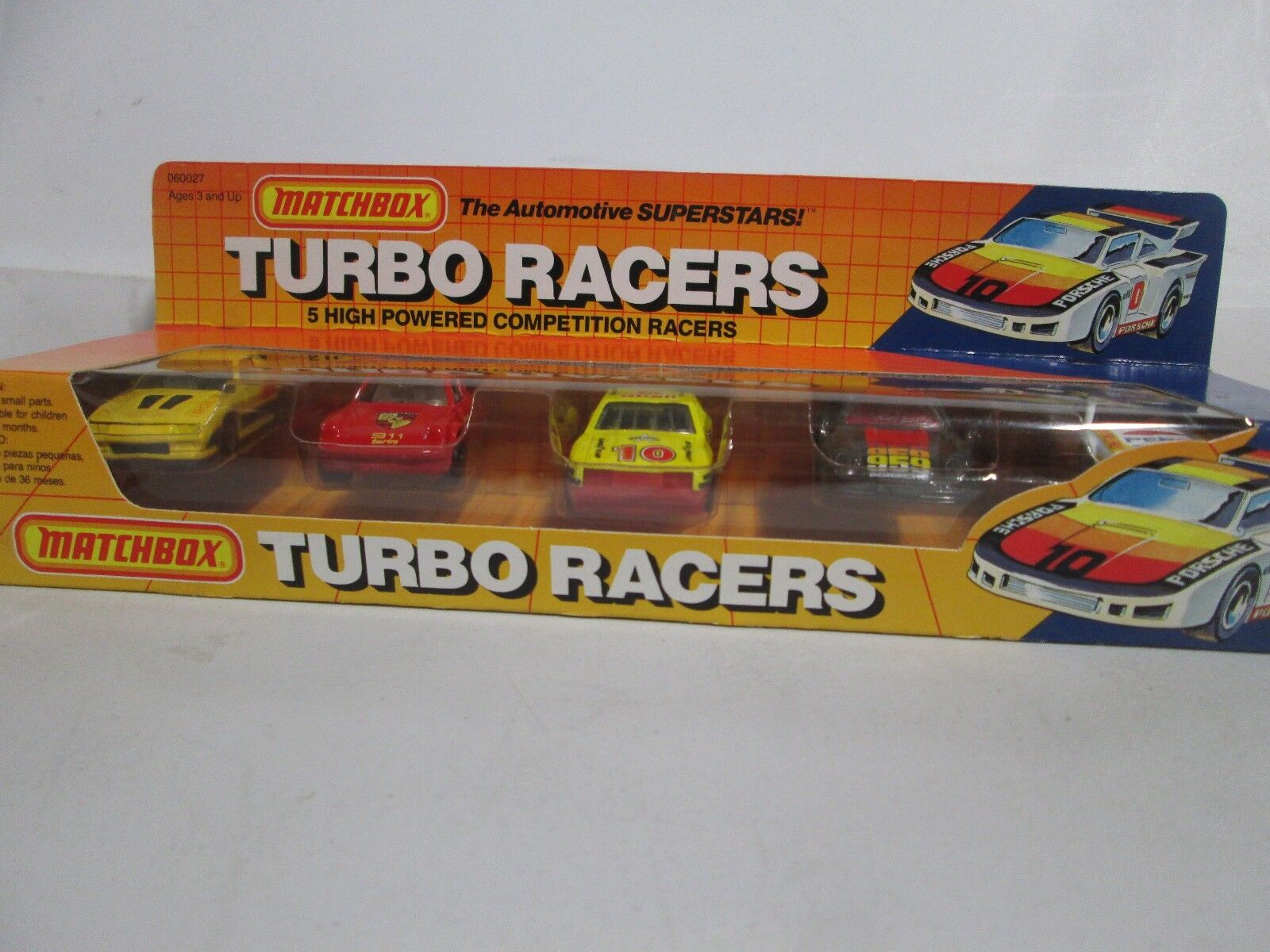 Matchbox Turbo Racers 5 High Powered Competition Racers