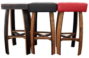 Sensational Details About Pub Bar Bistro Stools Oak Barrel Staves Red Seating Pdpeps Interior Chair Design Pdpepsorg