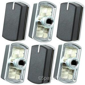 6 X Switch Bouton Pour Belling Fsg60d Fsg60dop Plaque Four Noir Argent 083240900-afficher Le Titre D'origine