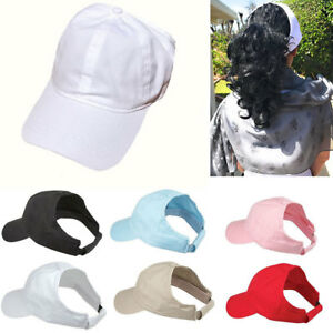 1 Dozen Womens Ponytail Style Baseball Caps Hats Visors Low Crown ... fd176a8be36