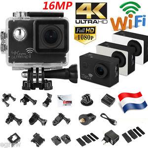 4K 16MP WIFI Ultra HD Sport DV Action Caméra Étanche 30M Caméscope 1080P 24FPS
