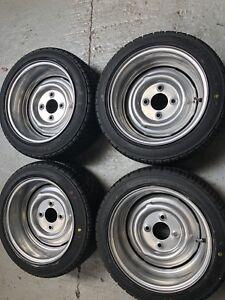 Details about 7x 13 JBW Smoothie Steel Wheels + Yokohama tyres Classic ford  lotus ex display