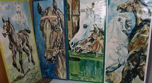 4 Bilder Pferde Pferd Horse je ca 62x27 - Deutschland, Deutschland - 4 Bilder Pferde Pferd Horse je ca 62x27 - Deutschland, Deutschland