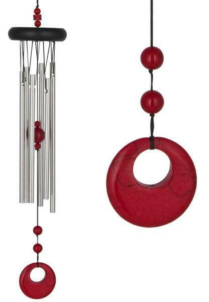 Woodstock Amber Wind Chime with Chakra Large GENUINE WOODSTOCK CHIME Silver