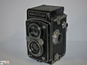 Rolleiflex-6x6-Tlr-Camera-Lens-Tessar-3-5-For-3-IN-609860-With-Syncronbuchse