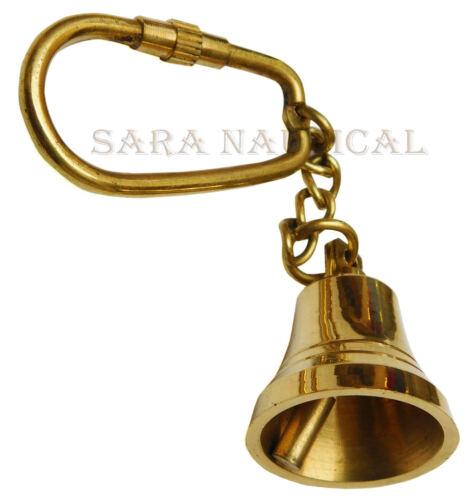 Vintage Brass Key chain Ship Bell Nautical Key ring Maritime Decor Item