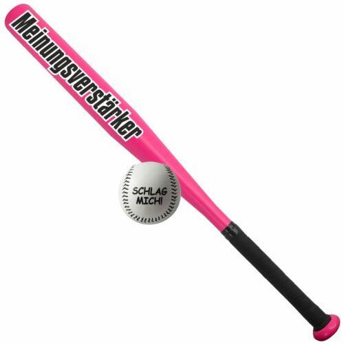 Sportset Baseballschläger mit Ball Meinungsverstärker Aluminium 26 zoll spruch