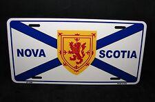 NOVA SCOTIA FLAG METAL NOVELTY LICENSE PLATE  NEW SCOTLAND NOUVELLE ECOSSE