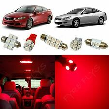 12 Piece Red LED lights interior package conversion kit for Honda Accord #HA1R