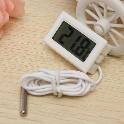 Termómetro Digital LCD Sonda Pecera For Acuario Congelador Medidor Temperatura