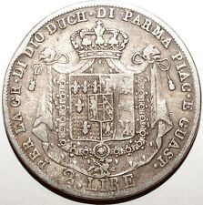 Tres rare 2 Lire Italie Parme 1815 argent tirage 22,125
