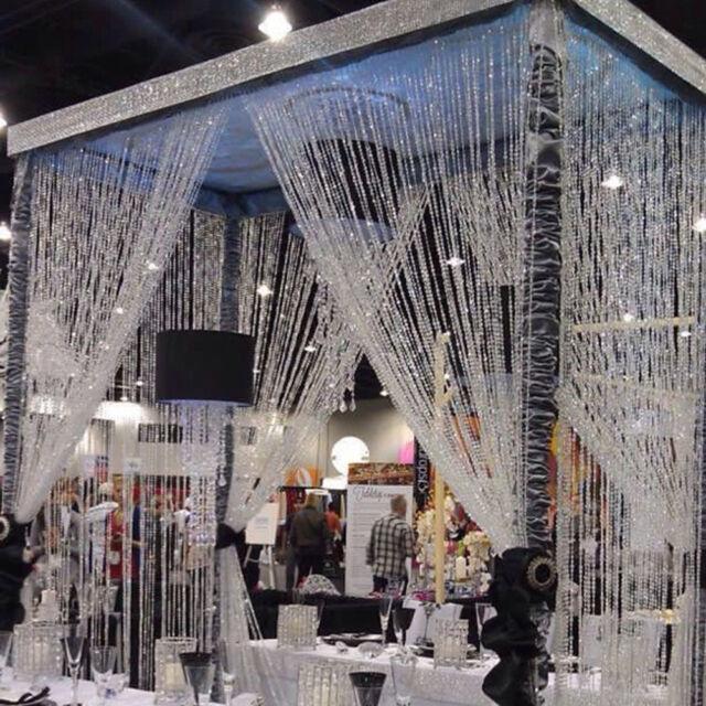 10m Bead Garland Diamond Acrylic Clear Crystal Curtain Wedding Party Home Decor