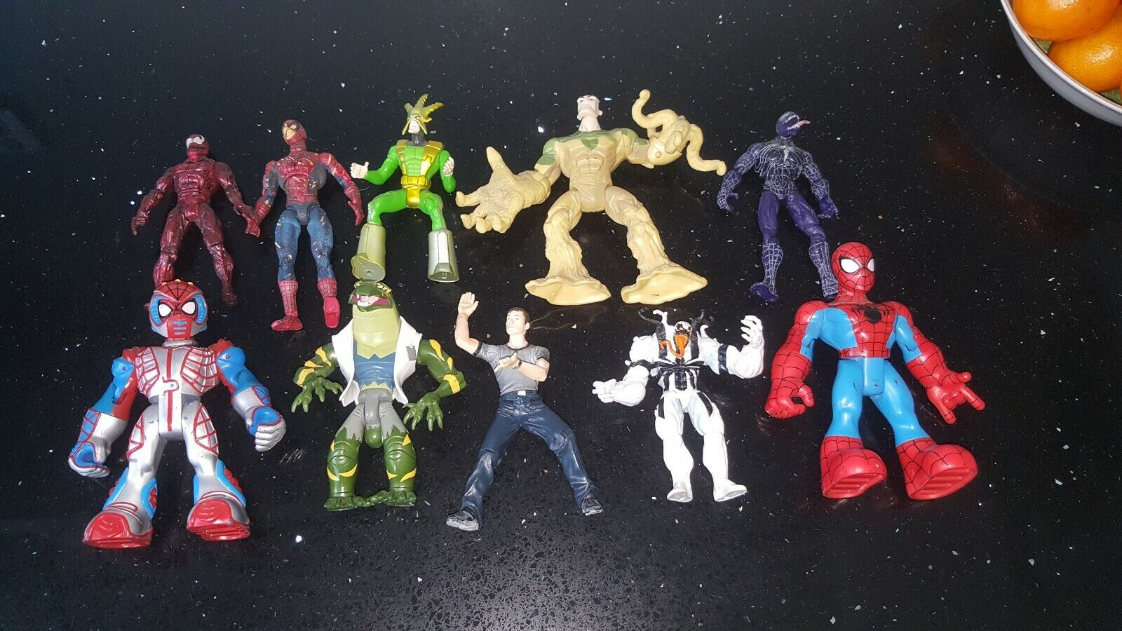 Spiderman action figure lot bundle collection x10 good condition