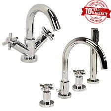 4 Miscelatore Doccia Bagno foro rubinetto lavabo rubinetto & Chrome Set TRAVERSA Maniglie * C