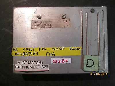 1986 Chevrolet Camaro oder Pontiac Firebird ECM ECU Computer 1227169