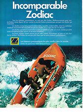 PUBLICITE ADVERTISING  1978    ZODIAC  bateau pneumatique
