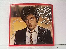 "BILLY JOEL ""DON'T ASK ME WHY / C'ETAIT TOI (YOU WERE THE ONE)"" 45w/PS"
