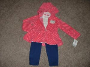 59636cbd4 Carter s Baby Girl Owl Fleece 3pc Outfit Set Size 12M 12 Months 9-12 ...