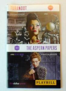 Aspern-Papers-Dallas-Opera-April-2013-Winspear-Opera-House-Playbill