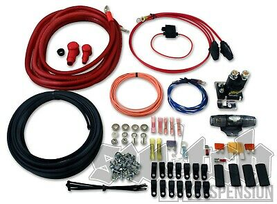 Dual Air Compressor Wiring Kit 4 Gauge Power Wire w/ Instructions FREE 2DAY  SHIP | eBayeBay