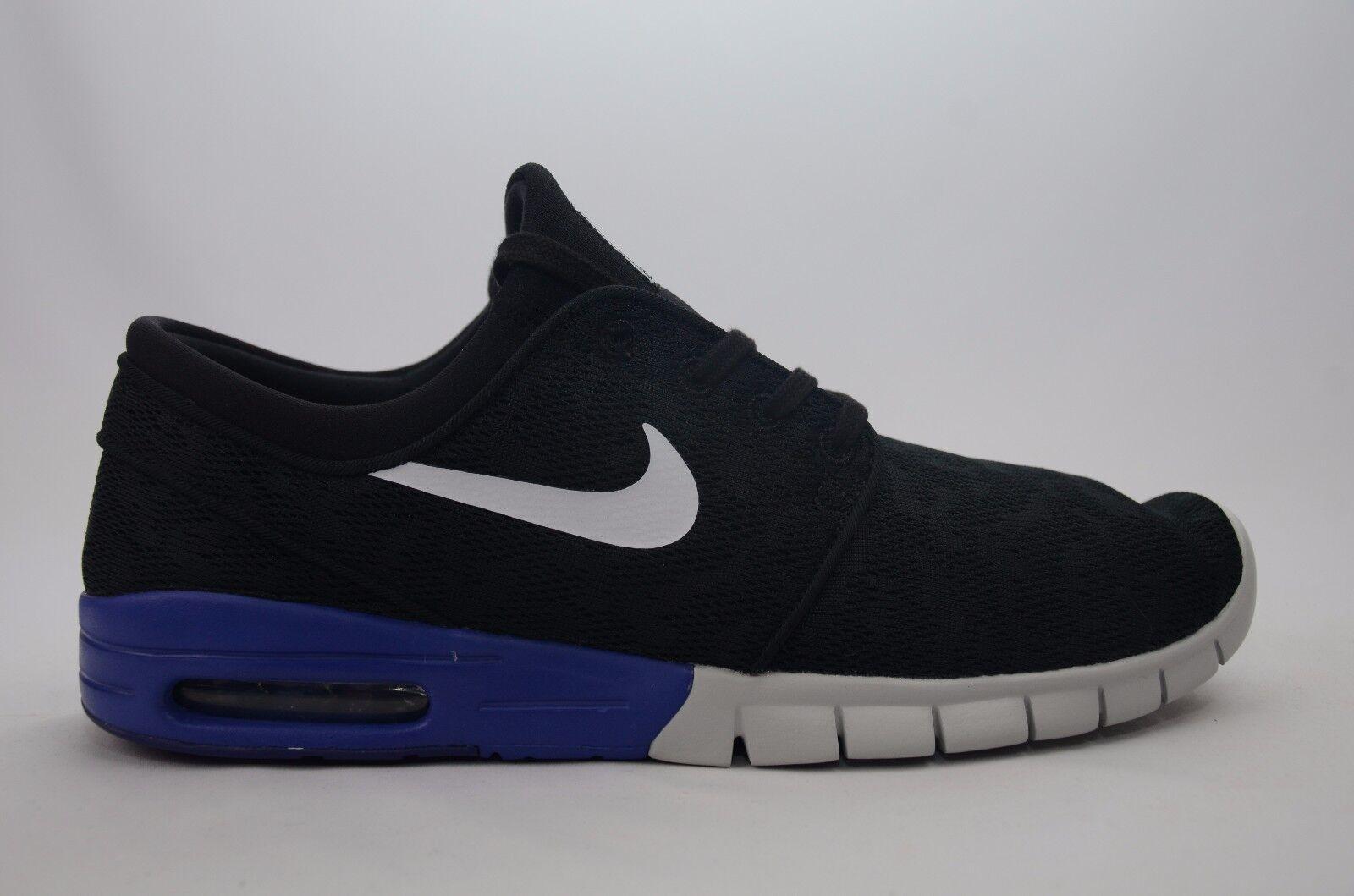 Nike Stefan Janoski Max Uomo Size 9-13 Nero/Deep Night New in Box 631303 015