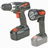 18 Volt Cordless 3/8 Power Drill/driver Rechargeable Battery Led Flashlight