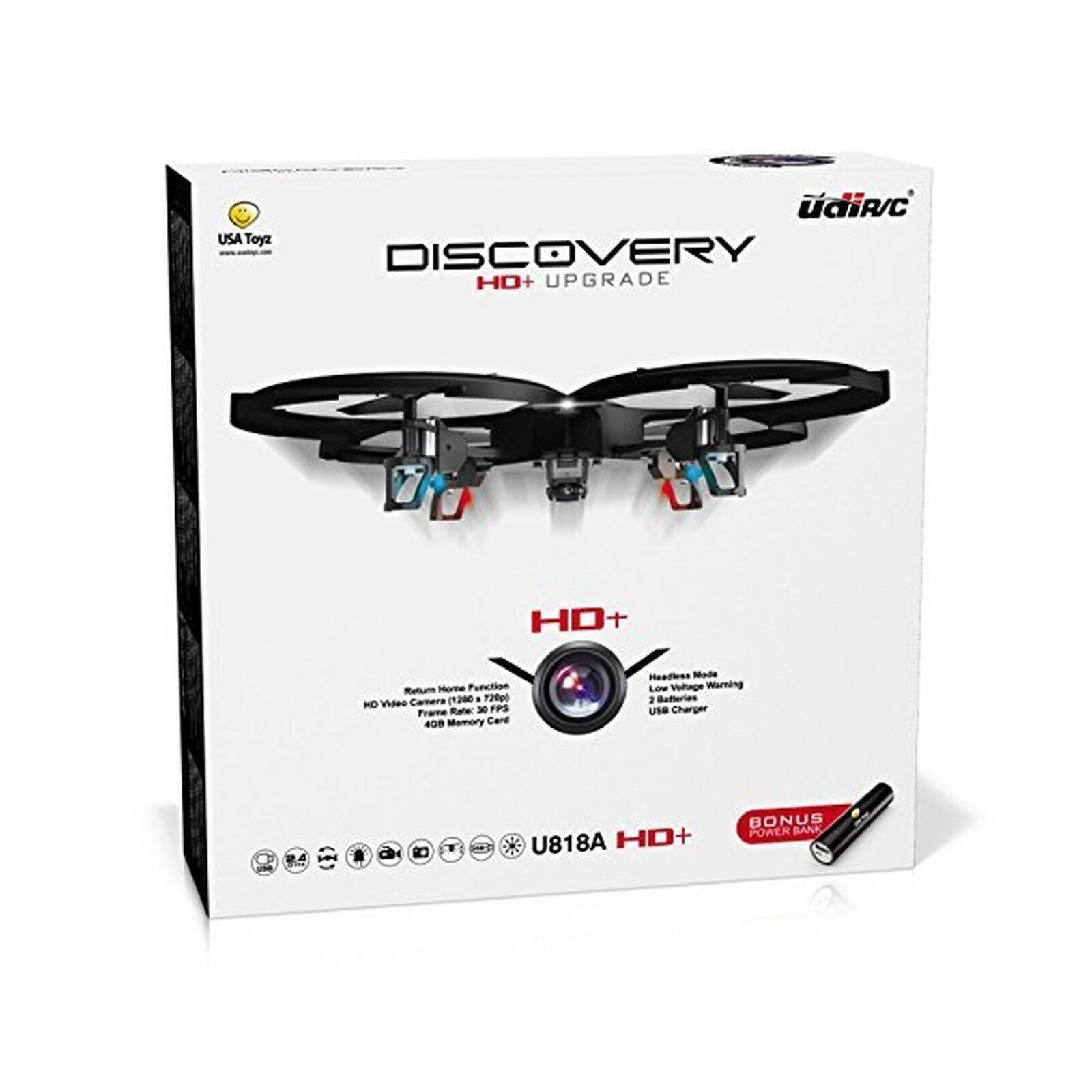 UDI U818A HD+ Drone with Camera Camera Camera and Headless Mode   2.4Ghz RC C... Free Shipping ee6301