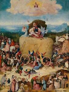 HIERONYMUS-BOSCH-HAY-WAIN-OLD-MASTER-ART-PAINTING-PRINT-POSTER-1364OM