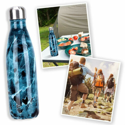 500ML 0.5L Stainless Vacuum Flask Water Bottle Steel Insulated Thermoses Drinks