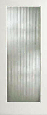 Reed Textured Decorative Glass French Doors 8 Wood Types