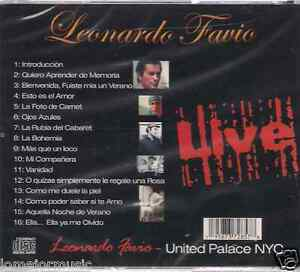 Rare Leonardo Favio Live At The United Palace Quiero Aprender De Memoria Vanidad Ebay