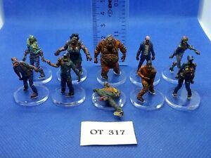 RPG-Rol-Modern-Apocalypse-Zombis-Variados-de-Zombicide-x10-Pintados-OT317