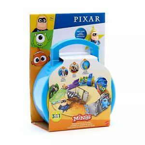 Mattel-Disney-el-Mundo-De-Pixar-Minis-Playset-Funda-amp-Figura-Accion-Juguete