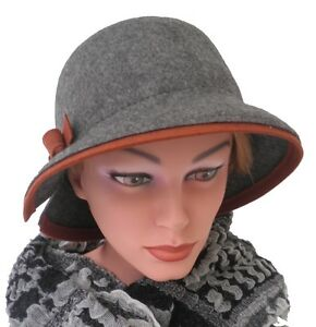 Damen Hut Wollhut braun Damenmütze Winter warm Herbst Damenhüte schick elegant