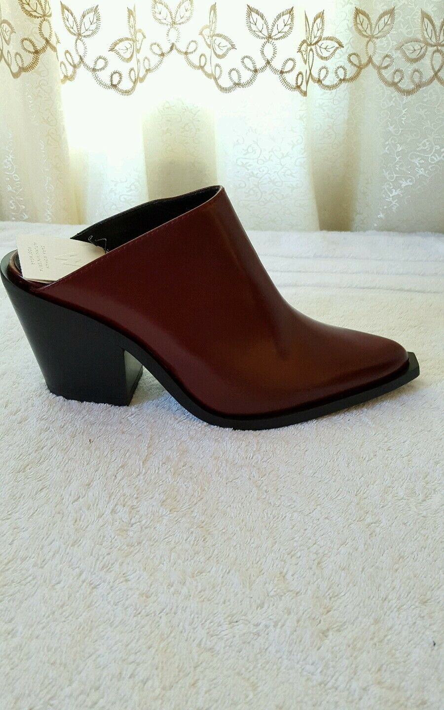 ZARA LEATHER HIGH HEELED  SLINGBACK avvioIES REF.5101 301 EUR 38 US 7.5 NWT
