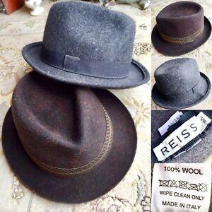 "f6640dabd89 Pair of Gentleman s ""Reiss"" 100% Wool Designer Hats   Fedora ..."