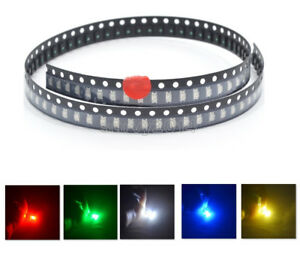 1206-SMD-SMT-LED-Red-Green-Blue-Yellow-White-5Colours-Light-Super-Bright-LED-NEW