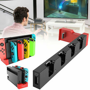 For-Nintendo-Switch-Joy-Con-4-Port-Controller-Grip-Charger-Charging-Dock-Stand