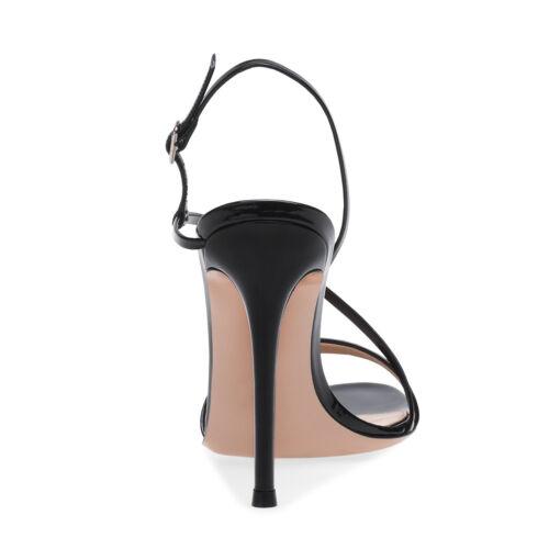 pie del casuales Slingbacks del de de sandalias dedo altos aguja tacón tacones de zapatos hebilla las mujeres 1xq1vnT