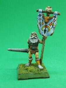 Barbarian Command Standard Bearer - Metal Magic - TSR AD&D - Painted Metal