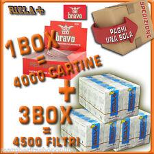 4000 Cartine BRAVO + 4500 Filtri Rizla Slim 6mm OFFERTA!