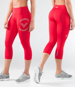 66fdf4b905 Virus Women's Stay Cool Compression Crop Pants (Eco34) RED, Crossfit ...