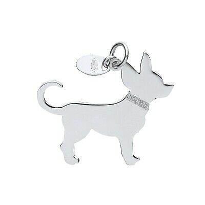 "Mooi Silver Chihuahua Dog Pendant Solid Silver 925 Stamp Pet Jewellery 14-30"" Chain"